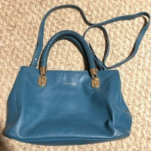 Cole Haan Teal Leather Crossbody Bag